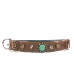 Unique Bohemian Style Studded Collar for Medium Sized Dogs