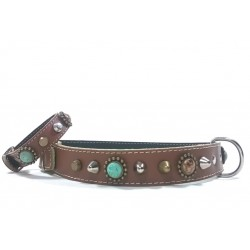 Unique Bohemian Style Studded Collar for Big Size Dogs with Bracelet