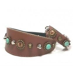 Unique Bohemian Style Studded Collar for Greyhounds with matching Bracelet