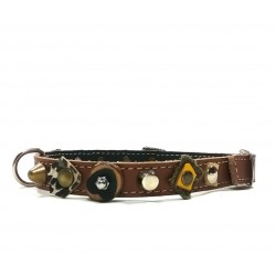 Very individual and Sturdy Unique Dog Collar with Natural Design