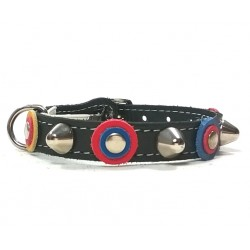 FC Barcelona Barça Cat Collar with beautiful Leather Studded Patches