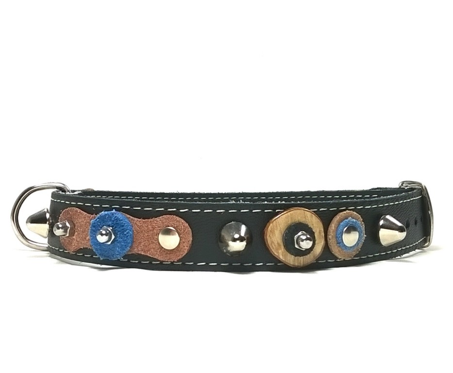The Most Original Dog Collars and Cat Collars, Beautiful, Unusual, Sturdy, Cool and all Very Exclusive Handmade Leather Custom Dog Collars and Cat Collars with Matching Bracelets! For All Kinds of Dogs from Puppies to Large Dogs, Greyhounds , Galgos , Lurchers or Whippets , Dachshund , Chihuahuas and Extra Small dogs! Quickly Go to the Online Pet Boutique to see all Designs and Order!