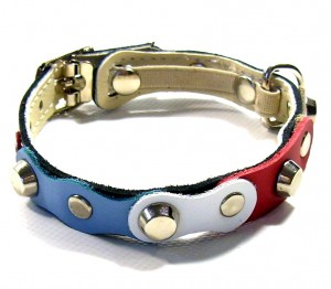 Original handmade custom leather cat collars with safety breakaway protection system!