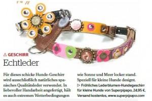 Hundegeschirr Vintage Flower Power