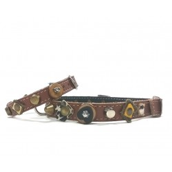 Very individual and Sturdy Unique Dog Collar and Matching Bracelet with Natural Design