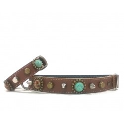 Unique Bohemian Style Studded Collar for Medium Sized Dogs and Bracelet