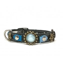Original Cat Collar with Blue Fishes and Golden stars