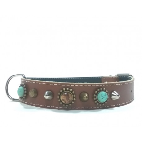 Unique Bohemian Style Studded Collar for Big Size Dogs