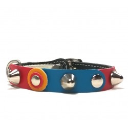 Unique Sporty Studded Cat Collar with beautiful Leather Studded Patches