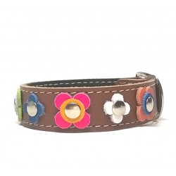 Happy Style Leather Flower Bracelet