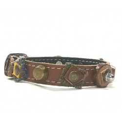 Very individual and Sturdy Unique Leather Bracelet with Natural Design