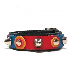 Unique Sporty Studded Leather Bracelet with beautiful Leather Studded Patches
