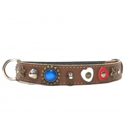 Beautiful Fancy Dog Collar with Red White and Blue Polaris Stones