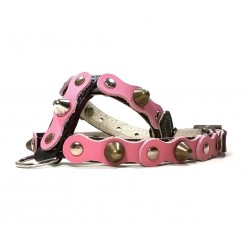 Black Leather Dog Harness with Spikes Simple but Cool Design