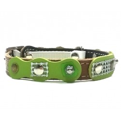 Unusual and Exclusive Vintage Retro Style Leather Collar for Cats