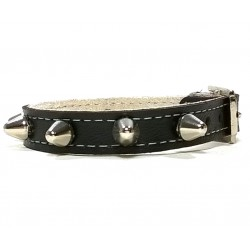 Leather Bracelet Simple and Robust with Spikes