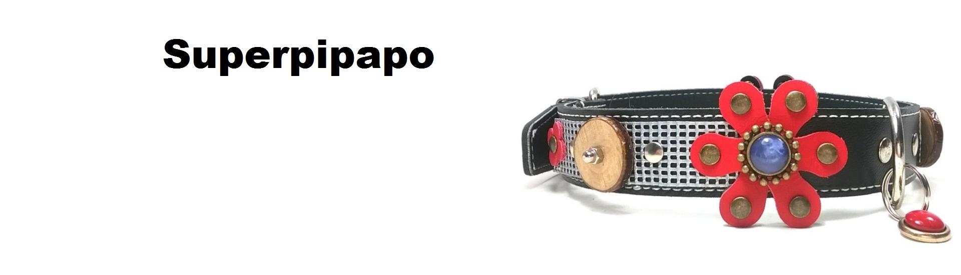Superpipapo – Dessin original des harnais et colliers pour chiens et chats – Fait à main de cuir Espagnol – Laisses et bracelets a jeux – Allez au magasin en ligne !